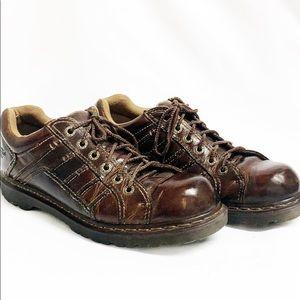 "DR MARTENS Vintage Brown Leather Oxfords ""Keith"""
